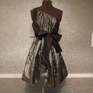 Black & silver party dress